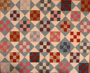 scrap nine patch quilt