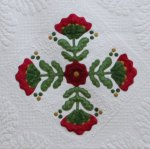 Red-and-Green-Applique sample block