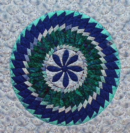 Circular quilt design