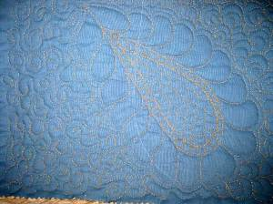 Robison Metallic quilted sample