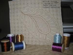 Silk finish quilting sample