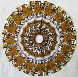 Fancy Wheel using tiger Fabric