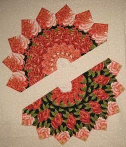 Corrina's Fancy Wheel using Rose Fabric