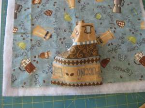 Quilting flap pushed to side