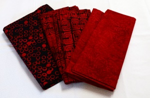 Red and Black Bali Fabrics